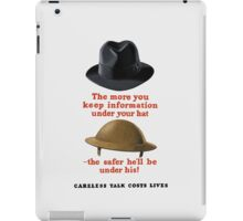 Careless Talk Costs Lives -- WW2 iPad Case/Skin