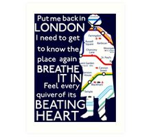 London Underground Map Sherlock Art Print