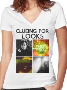 Clueing For Looks Women's Fitted V-Neck T-Shirt