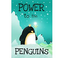 Power to the Penguins Photographic Print