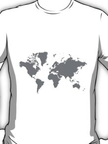 World With No Borders - true gray T-Shirt