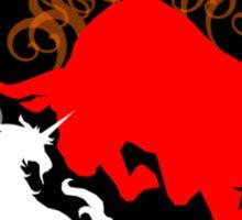 Unicorn vs the Red Bull Sticker