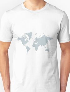 World With No Borders - silver T-Shirt