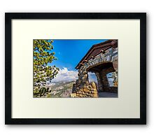 GEOLOGY HUT Framed Print