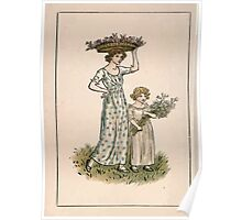 Kate Greenaway Almanack 1893 0020 May Flowers Poster