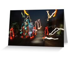 Musical Phrase in Lights  Greeting Card