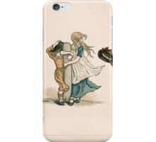Kate Greenaway Almanack 1893 0014 February Wind iPhone Case/Skin