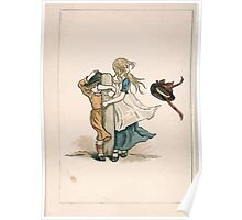 Kate Greenaway Almanack 1893 0014 February Wind Poster