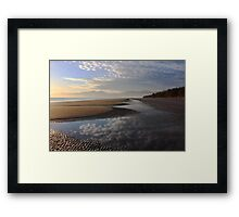 Early winter morning on a Nelson beach Framed Print