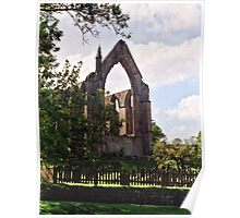 Silhouette of Bolton Abbey Poster