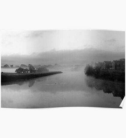 Mist on the Ribble Poster