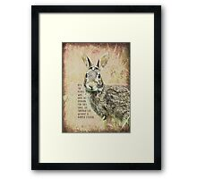 pity the people-inspirational Framed Print