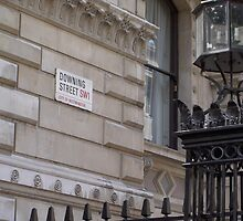 Downing Street street sign. by kezbomb