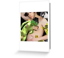 'pregnant wentz pepe and shrek orgy w barack and romney as the nipples' Greeting Card