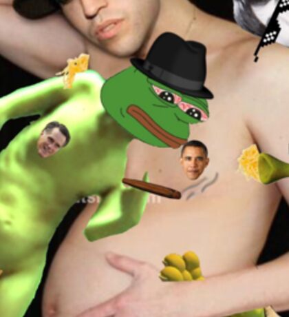 'pregnant wentz pepe and shrek orgy w barack and romney as the nipples' Sticker