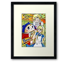 Give Me Your Hearts~! Framed Print