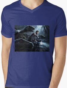 Jurassic World Mens V-Neck T-Shirt