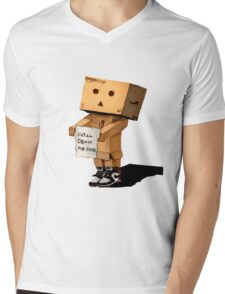 DANBO WILL DRAW FOR FOOD Mens V-Neck T-Shirt