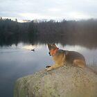 Shauna at the lake by GSDman