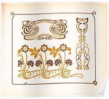 Maurice Verneuil Georges Auriol Alphonse Mucha Art Deco Nouveau Patterns Combinaisons Ornementalis 0027 Poster