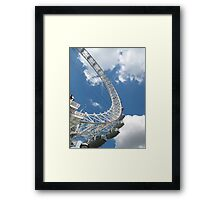 Almost time to go up! Framed Print