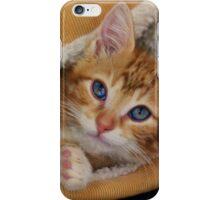 Orange Kitten Tucked into Bed iPhone Case/Skin