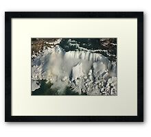 Aerial View of Niagara Falls with Snow and Ice Framed Print