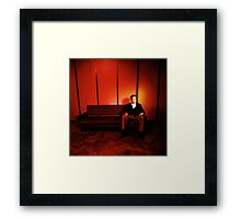 David Lynch Red Couch Framed Print