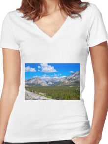 MAJESTIC OVERLOOK Women's Fitted V-Neck T-Shirt