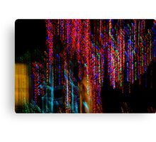 Colorful Christmas Streaks - Abstract Christmas Lights Series Canvas Print