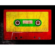 Grunge Reggae Cassette Tape - Cool Retro Music  Photographic Print