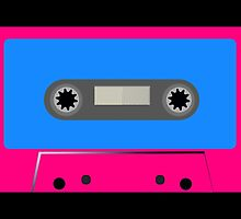 Retro Vintage Cassette Tape - Cool Pop Music T Shirt Prints Stickers by Denis Marsili - DDTK