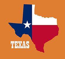 Texas pride - flag state cutout  by rachjacobs