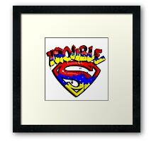 Troubled Superman Framed Print