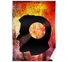 Burning with a Vinyl Record! Music DJ T Shirt and Prints Poster