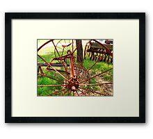 Old Farm Equipment I Framed Print