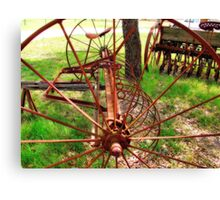 Old Farm Equipment I Canvas Print