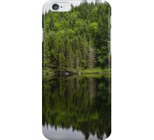 Still Forest Lake Reflections - Charlevoix, Quebec, Canada iPhone Case/Skin