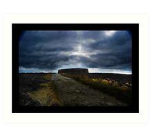 Ashy stone fort of Burt ,County Donegal Art Print