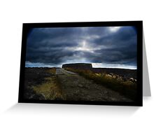 Ashy stone fort of Burt ,County Donegal Greeting Card