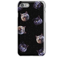 Crazy Cats in Space iPhone Case/Skin