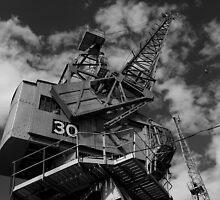 Dockside crane, Bristol waterfront by buttonpresser