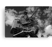 Dockside crane, Bristol waterfront Canvas Print