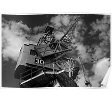 Dockside crane, Bristol waterfront Poster