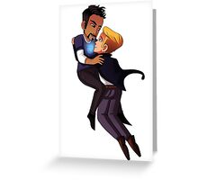 SteveTony Chibi Greeting Card