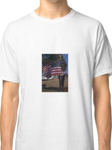 A guy, a flag and a huge heart Classic T-Shirt