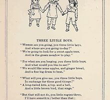 Miniature Under the Window Pictures & Rhymes for Children Kate Greenaway 1880 0028 Three Little Boys by wetdryvac