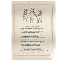 Miniature Under the Window Pictures & Rhymes for Children Kate Greenaway 1880 0028 Three Little Boys Poster