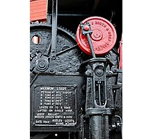 Detail on steam crane, Gloucester Docks Photographic Print
