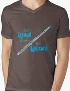 The Flute Chooses the Wizard Mens V-Neck T-Shirt